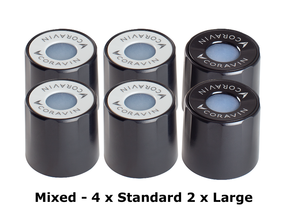 Screw Caps 6 Pack - Mixed Pack (2 x Large, 4 x Standard)