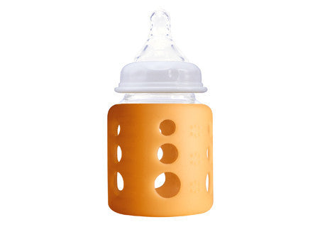 Cherub Baby Glass Bottle Single Pack Orange 150ml