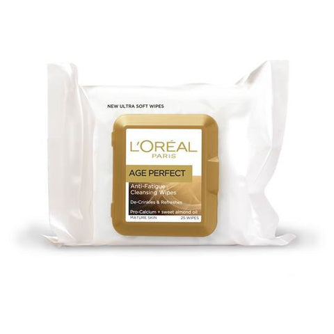 Loreal Age Perfect Cleansing Wipes 25pk - Ureeka Pharmacy