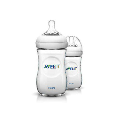Avent Natural 260ml Feeding Bottle 2 Pack Different Colors