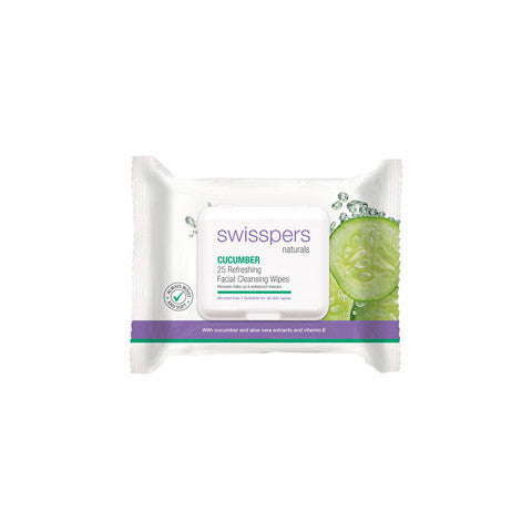 Swisspers Facial Wipes Cucumber 25pk