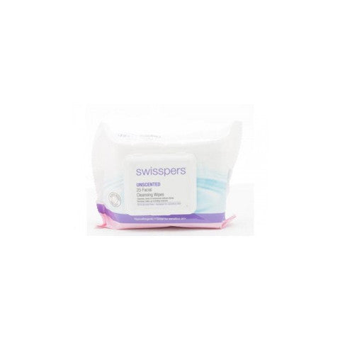 Swisspers Facial Wipes Unscented 25pk