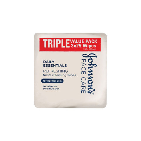 Johnson & Johnson Cleansing Wipes Normal 3x25pk