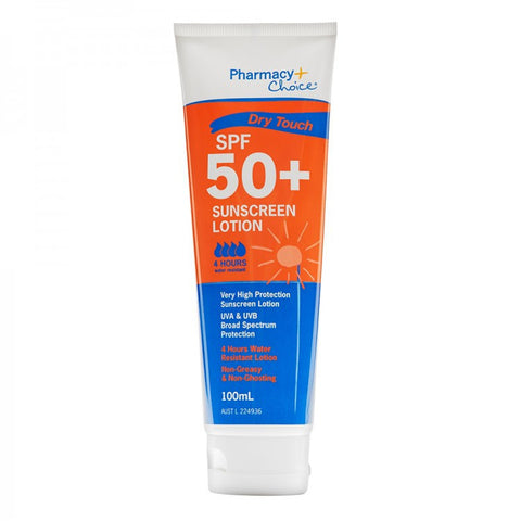 Pharmacy Choice Dry Touch Sunscreen SPF 50+ Tube 100ml