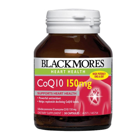 Blackmores CoQ10 150mg High Potency 30 Caps