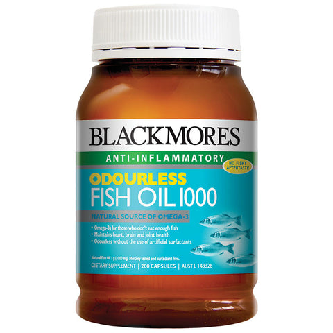Blackmores Odourless Fish Oil 1000mg 200 Caps