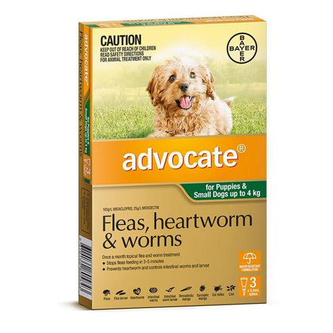 Advocate for Dogs Small Up To 4kg 3 pack