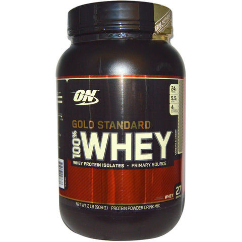 Optimum Nutrition 100% Gold Standard Whey Cookies & Cream 909g - Ureeka Pharmacy