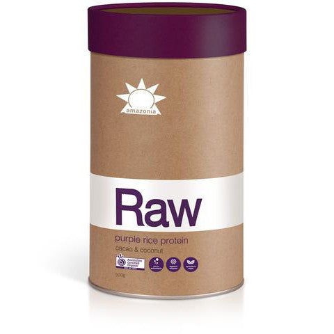 Amazonia Raw Purple Rice Protein 900g Natural Organic Protein Powder
