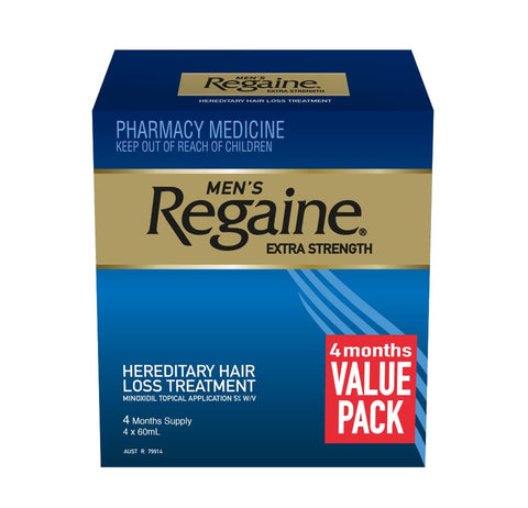 Regaine Solution Mens Extra Strength 4 for 3