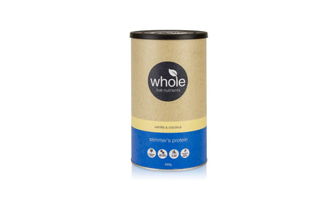 Whole Live Nutrients Slimmer's Protein Vanilla Coconut 450g