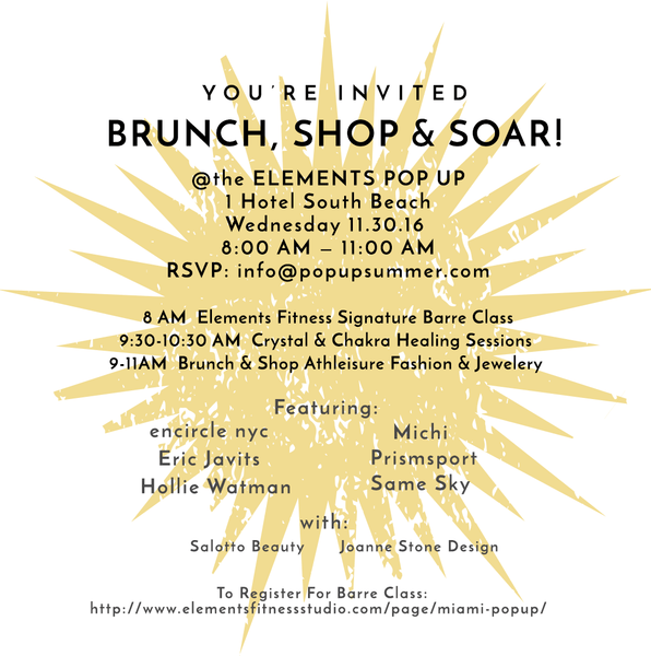 You're Invited: Brunch, Shop & Soar!