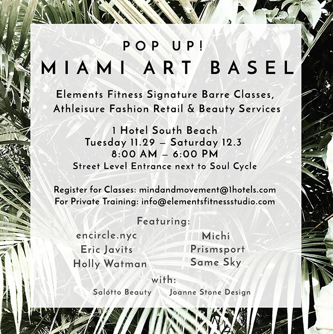 We're Popping Up at Miami Art Basel!