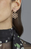 Two Tier Flower Earrings