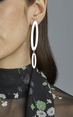 Large Two Part Paper Clip Earrings