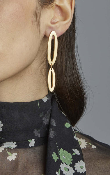 Small Two Part Paper Clip Earrings
