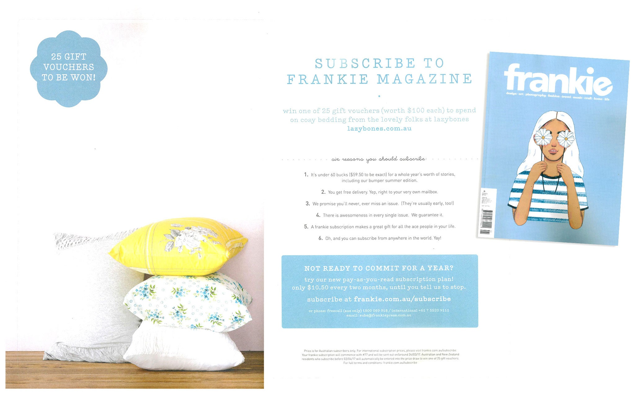 Frankie Subscriber offer