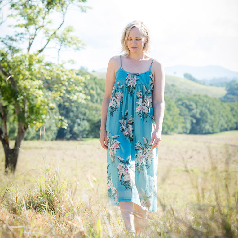 Nicola wears Claire dress in Tigerlily
