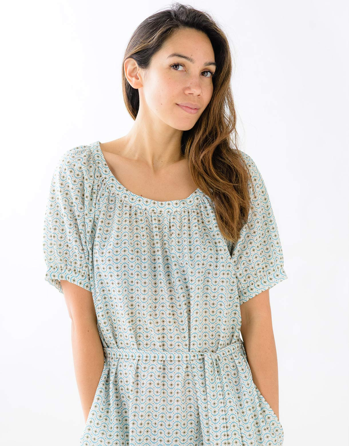 Agnes Dress in Starburst *organic cotton