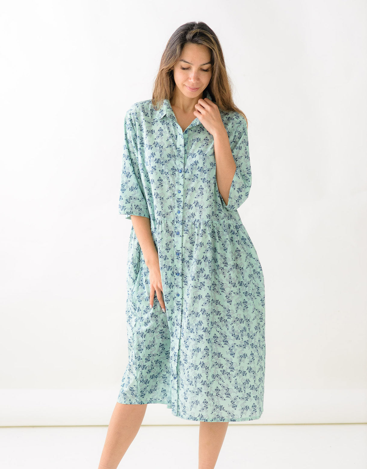Aika Dress in Curlicue *organic cotton