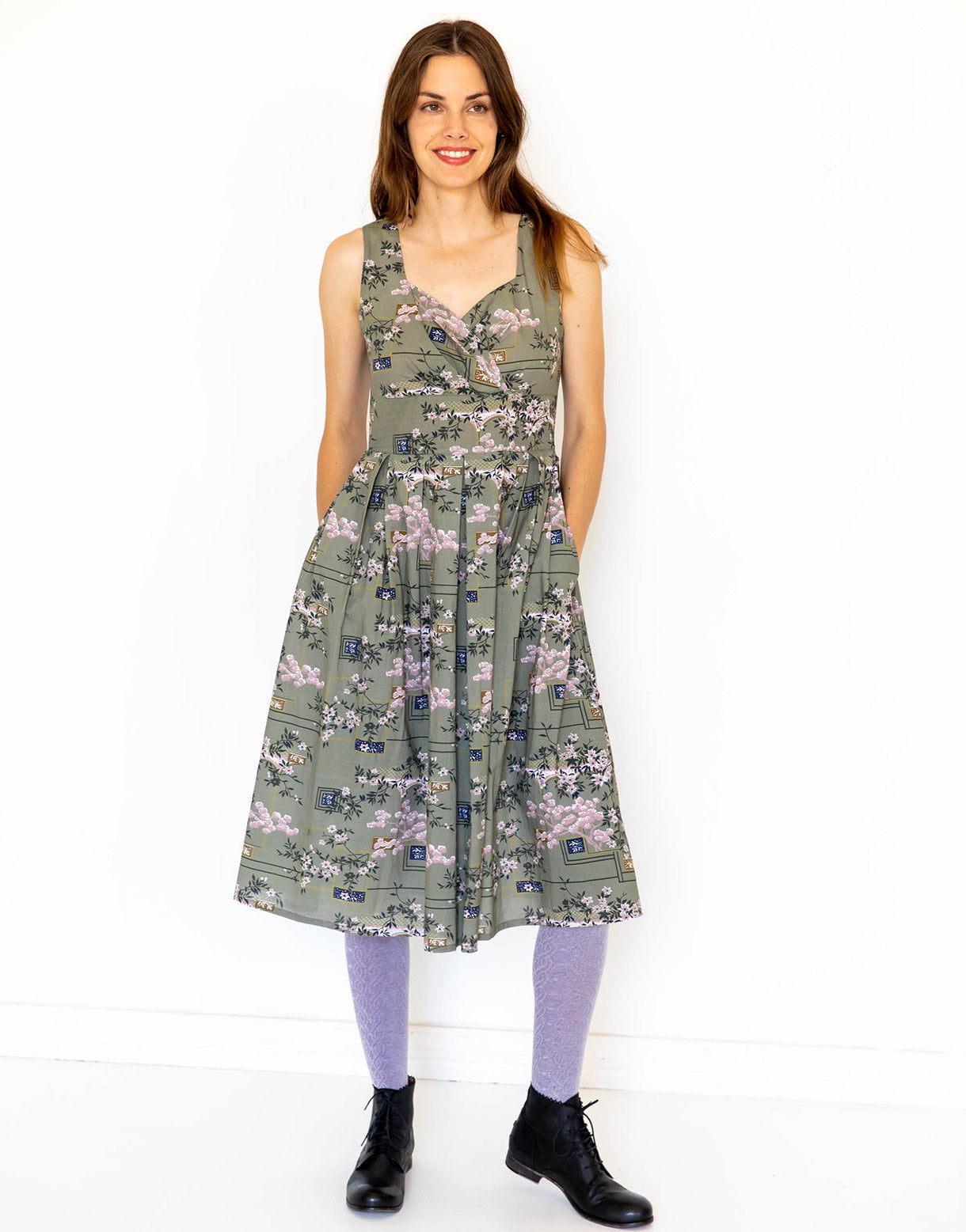 Alice Dress in Sakura *organic cotton