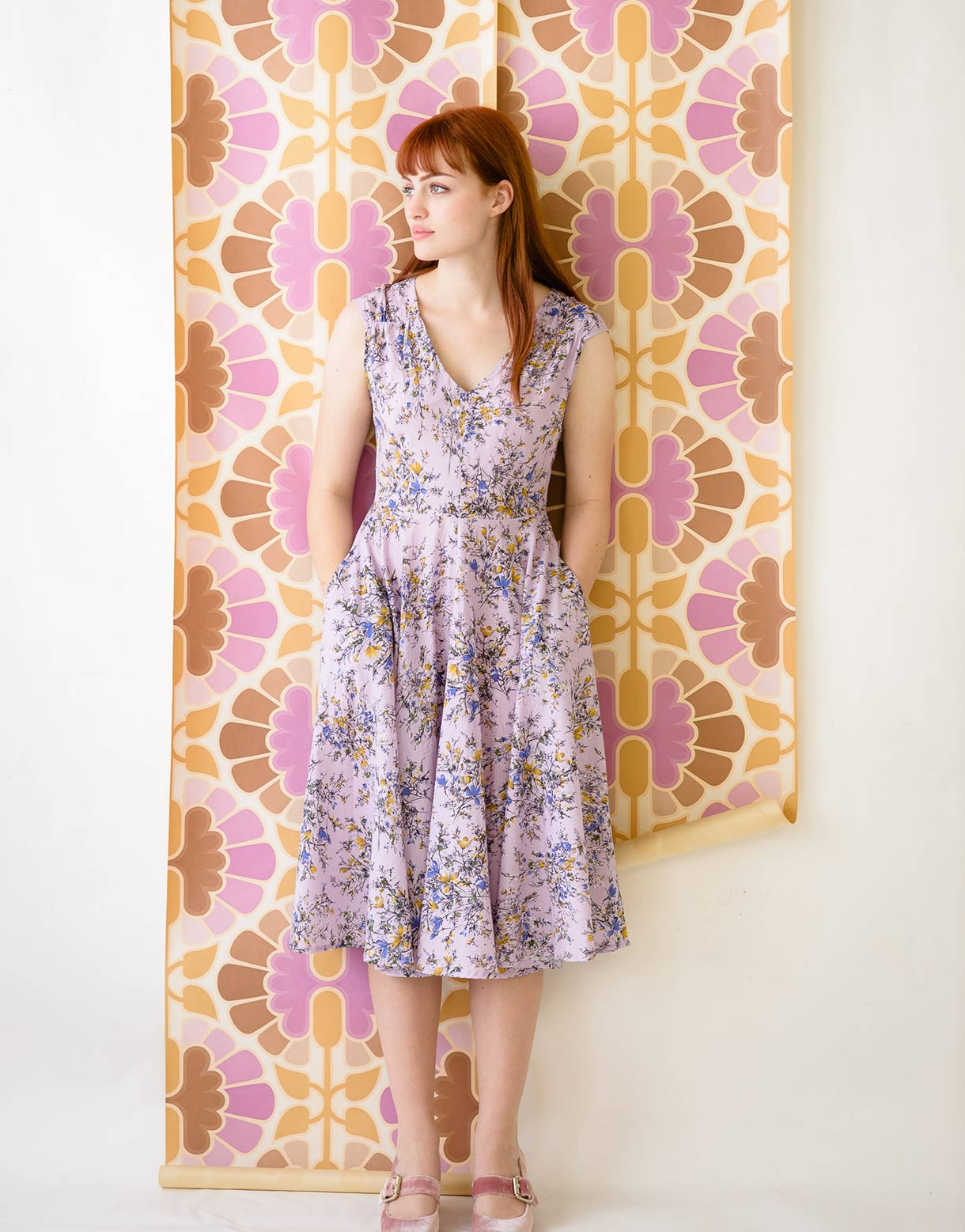 Angela Dress in Mayfield *organic cotton