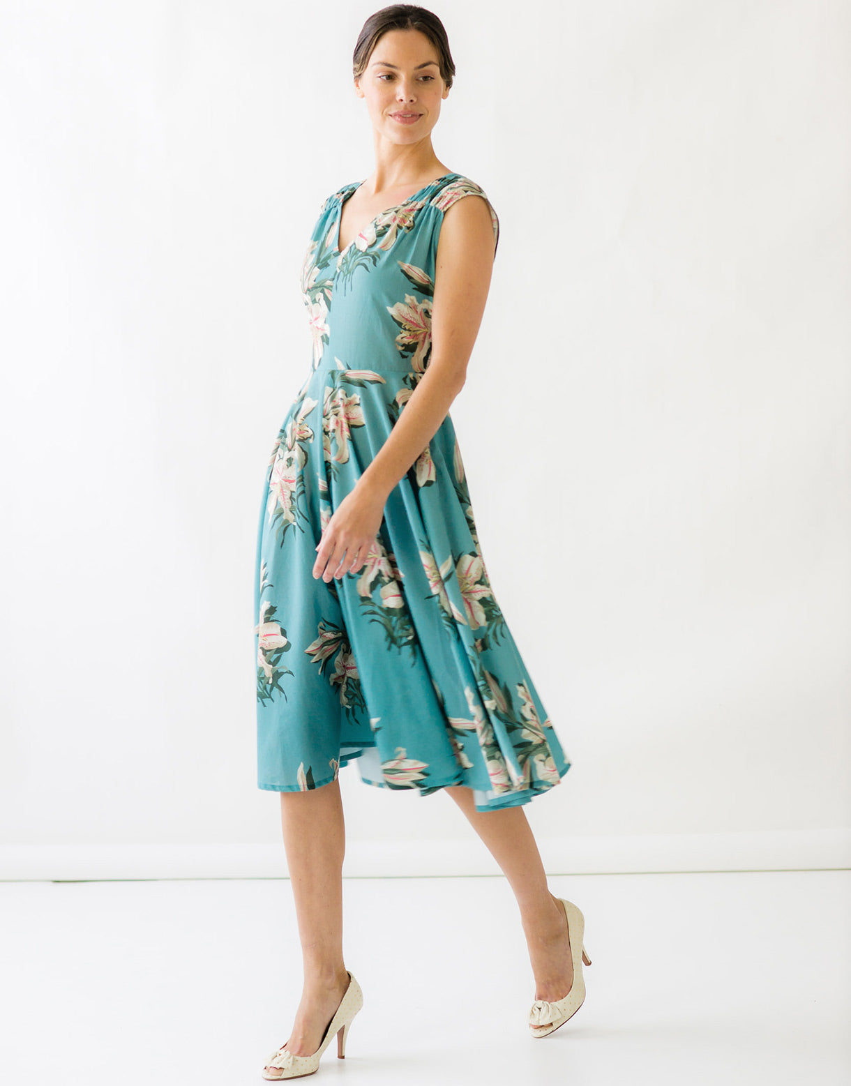 Angela Dress in Tiger Lily *organic cotton