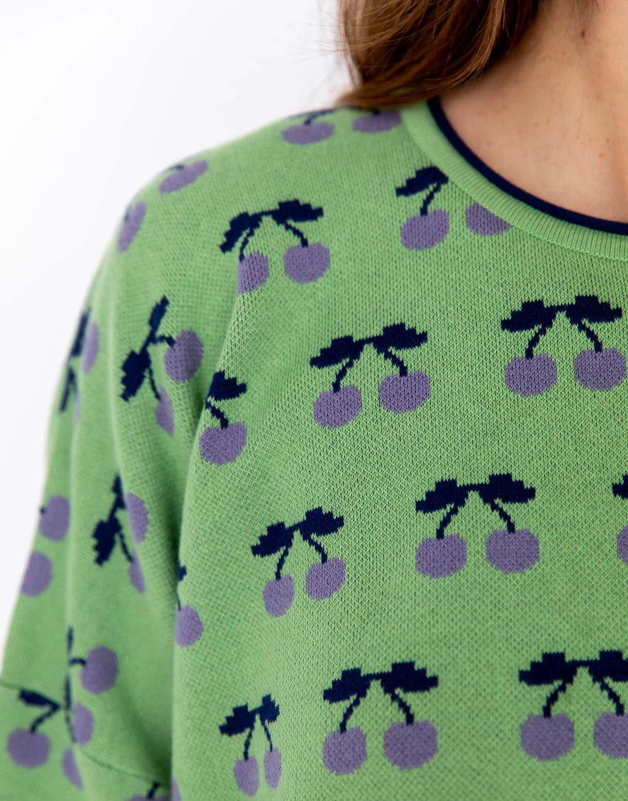 Anouk Jumper in Cherries *organic cotton