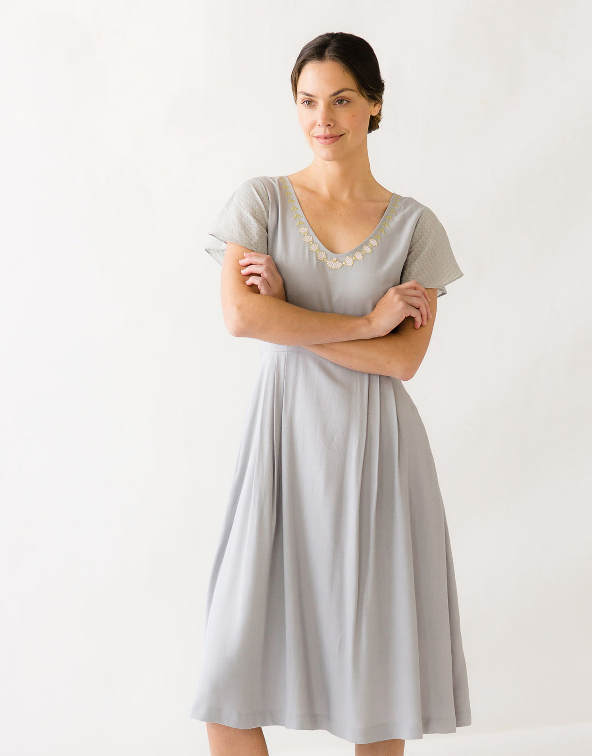 April Dress in Lunar *sustainable viscose