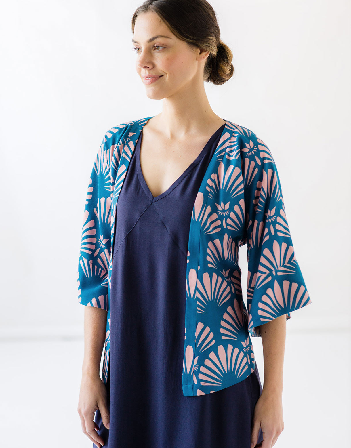 Aria jacket in Fantail *sustainable viscose