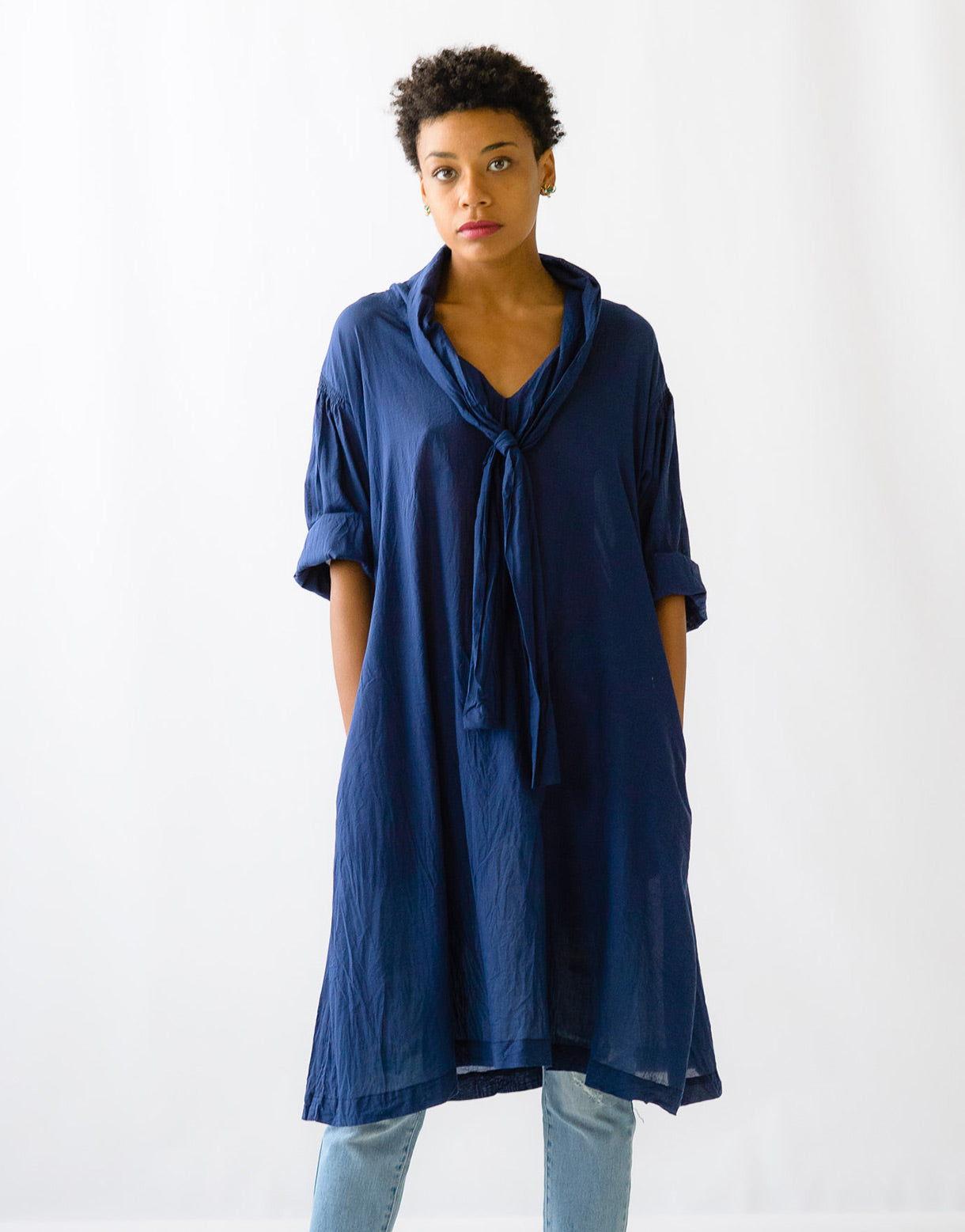Aster tunic in Deep Blue *organic cotton