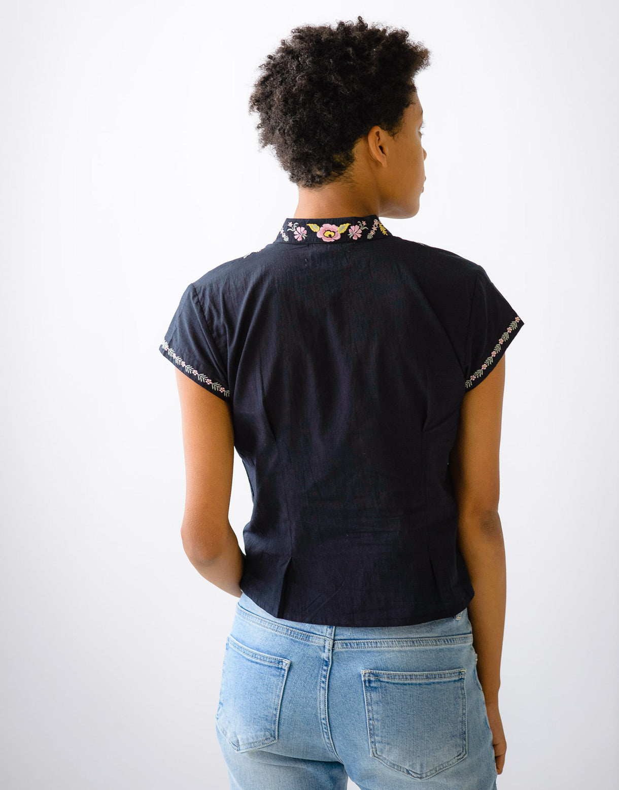 Audrey top in Graphite *organic cotton