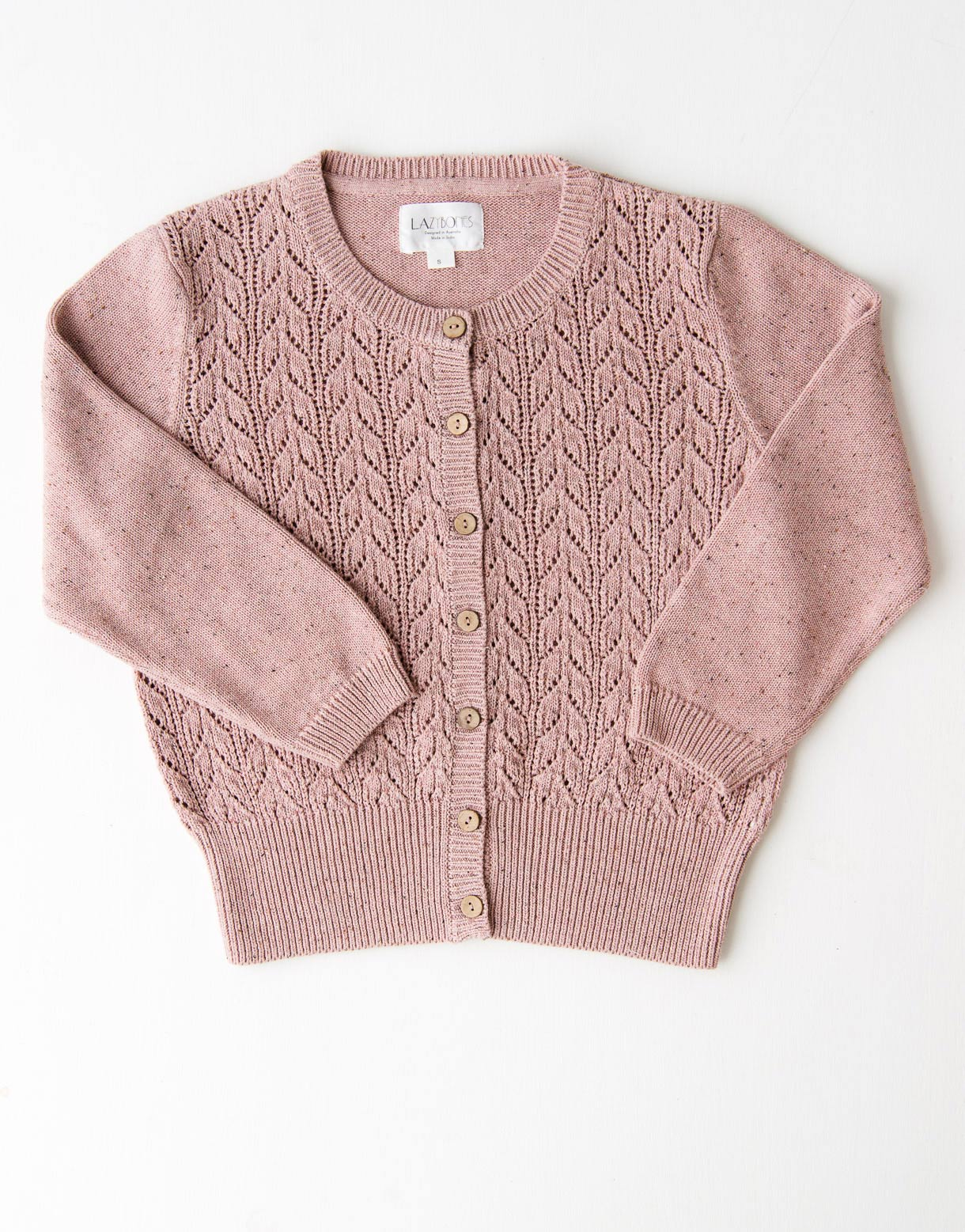Ava Cardigan in Berry Yoghurt *organic cotton