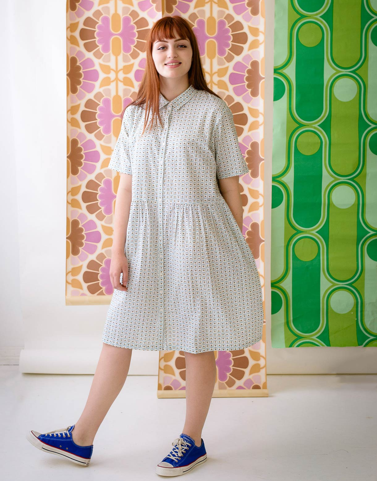 Bethany Dress in Starburst *organic cotton