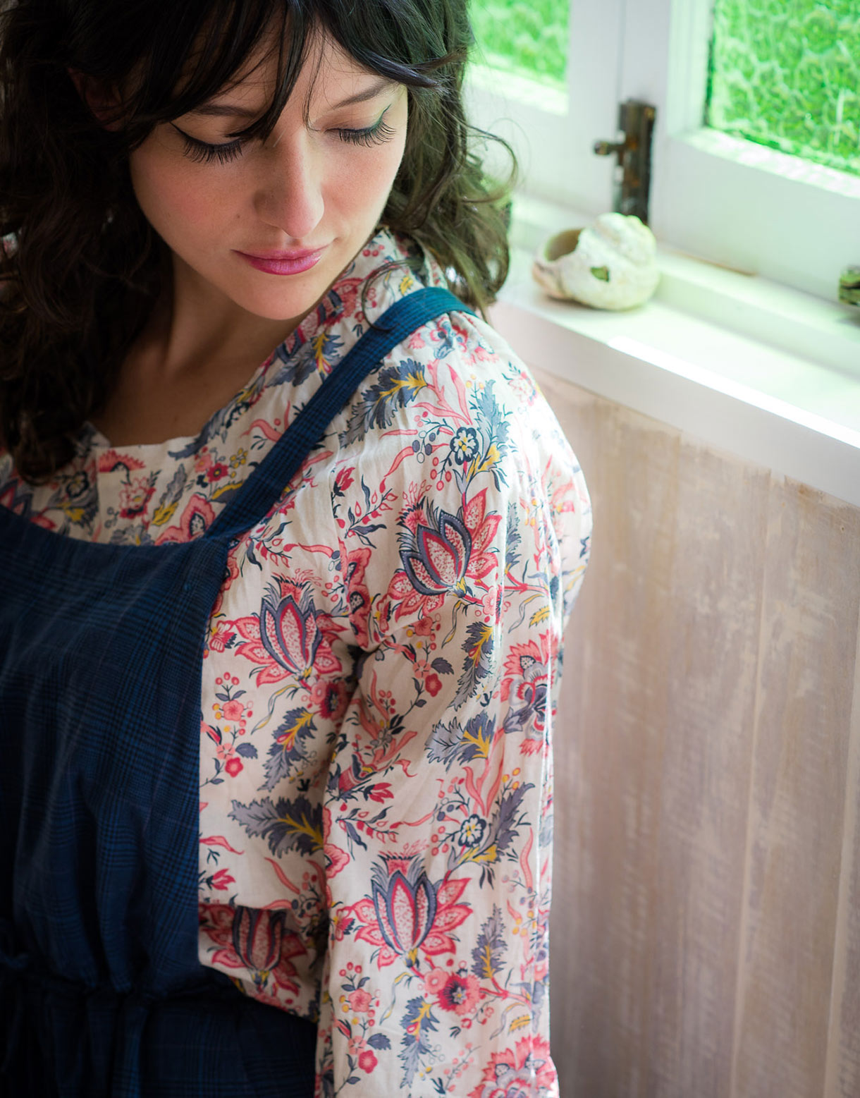 Robyn Top in Provence *organic cotton