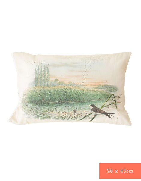 Conference of The Birds cushion cover