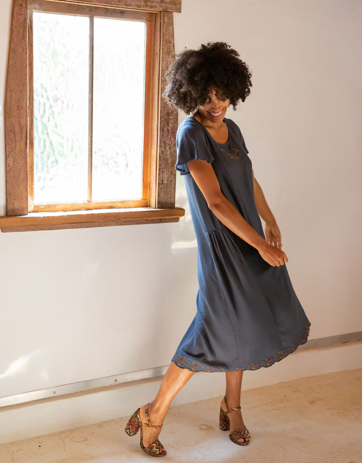 Cynthia Dress in Charcoal *sustainable viscose