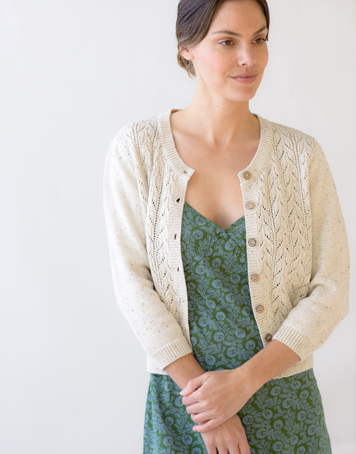 Ava Cardigan in Cookies and Cream *organic cotton
