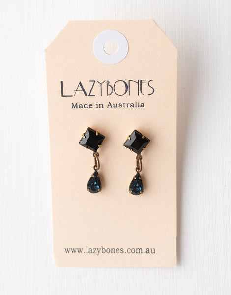 Sapphire stud drop earrings
