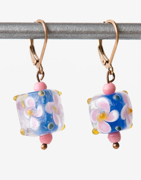 Vintage lampwork earrings