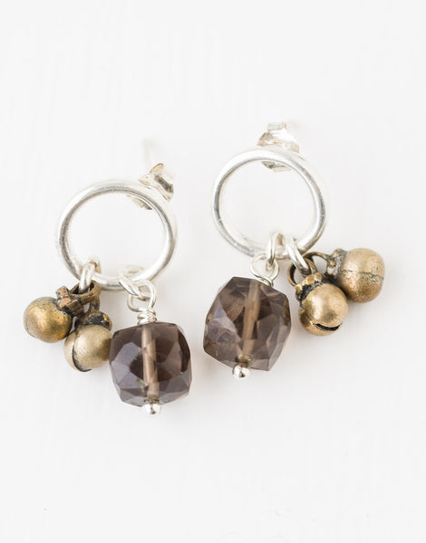 Smoky Quartz Cluster Earrings
