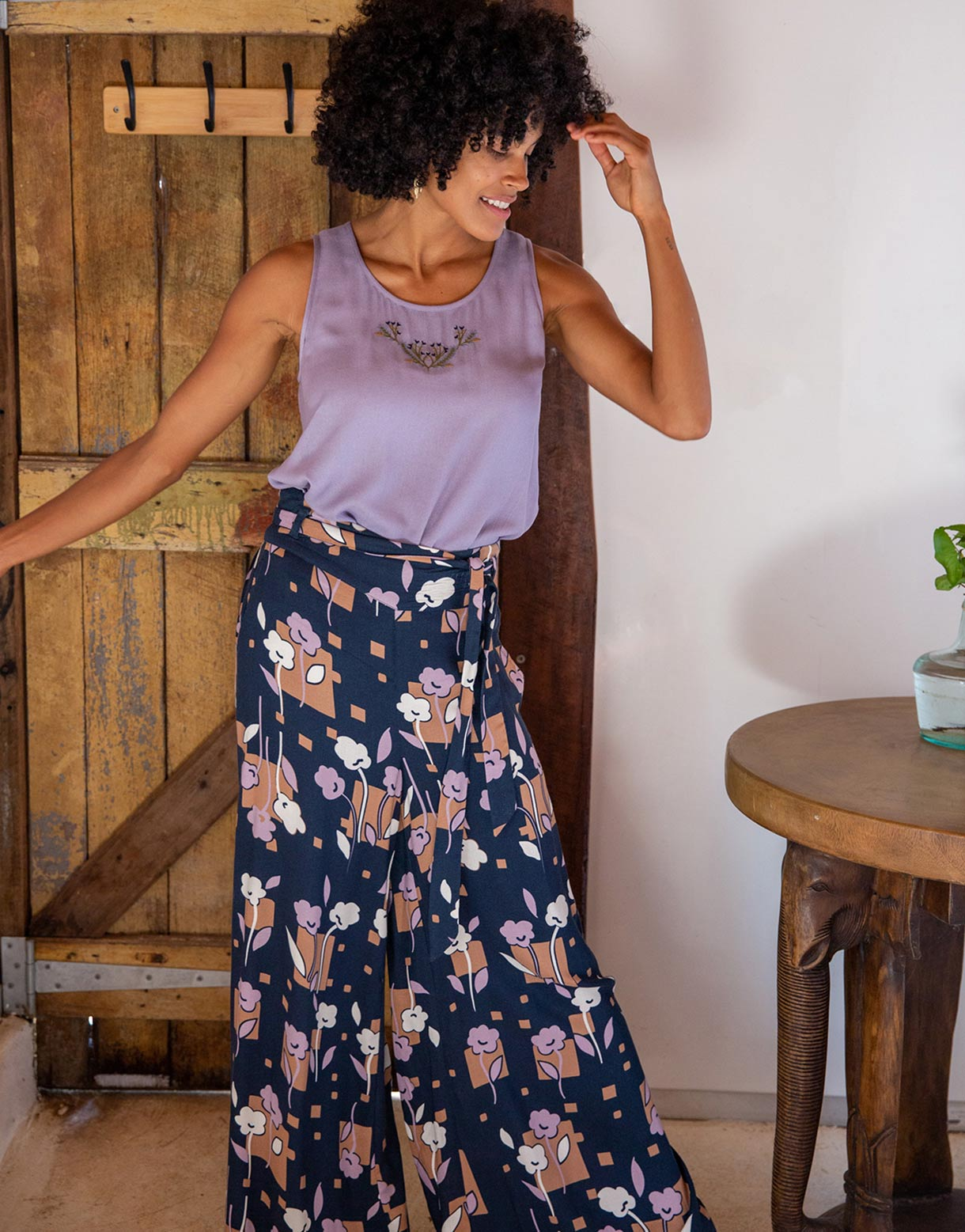 Ida Pant in Floret *sustainable viscose