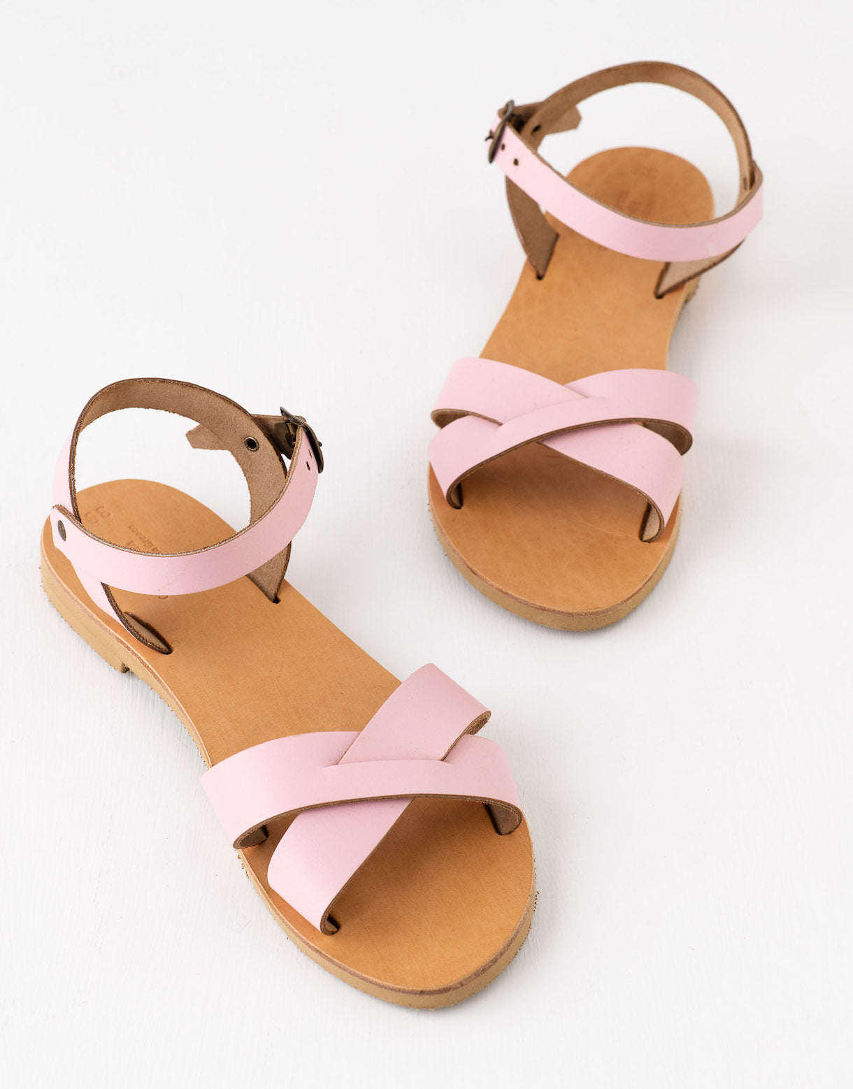 Erato leather sandals in Pink