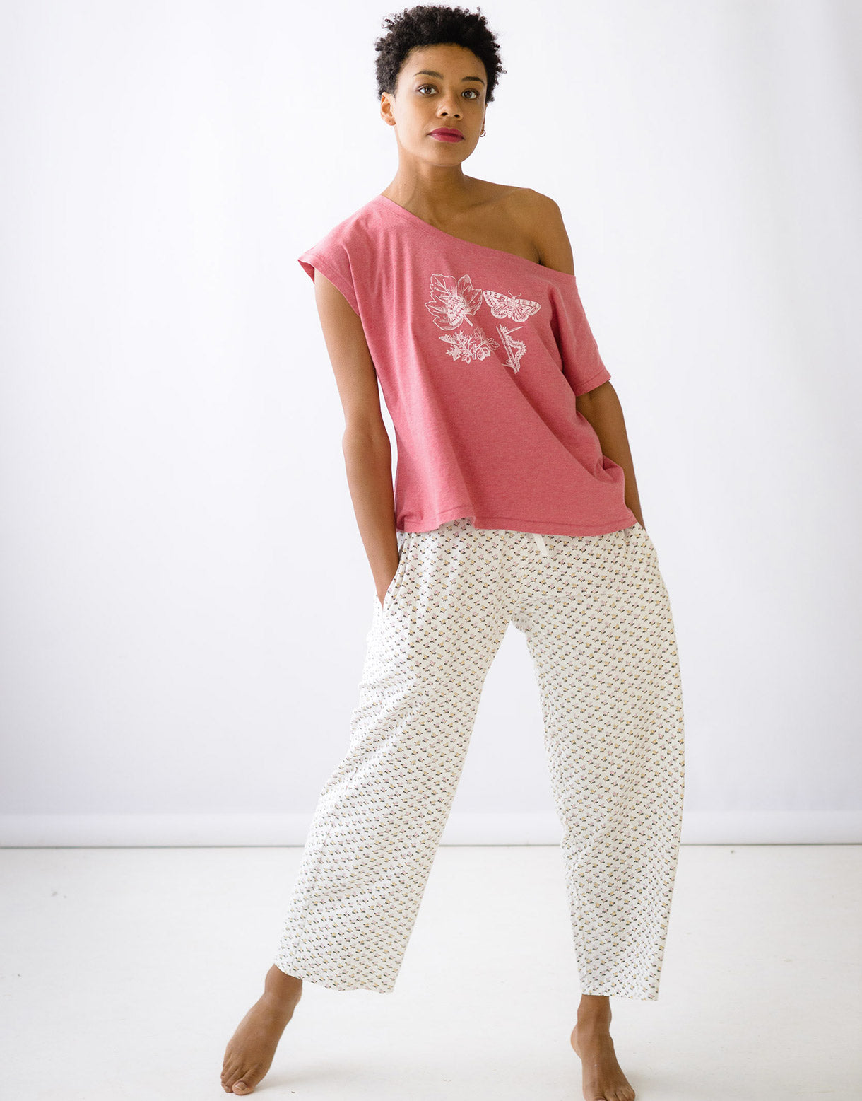 Frankie pant in Cosmos *organic cotton