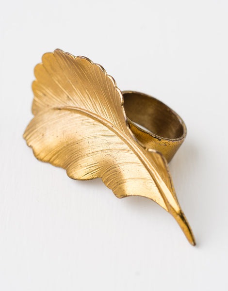 Golden Feather ring