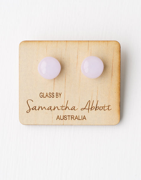 Pink Pearl Glass Earrings