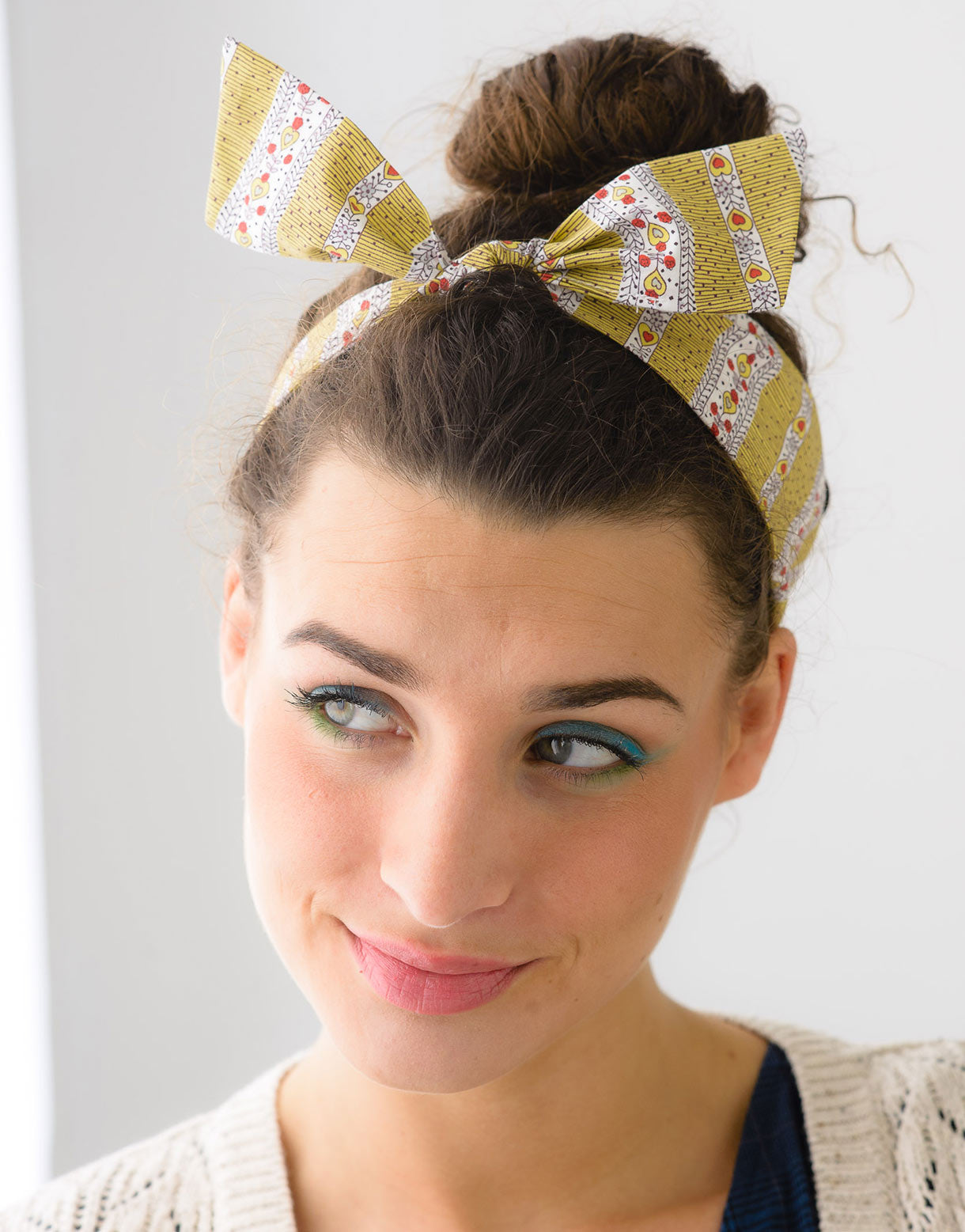 Headband Bow in Scribble