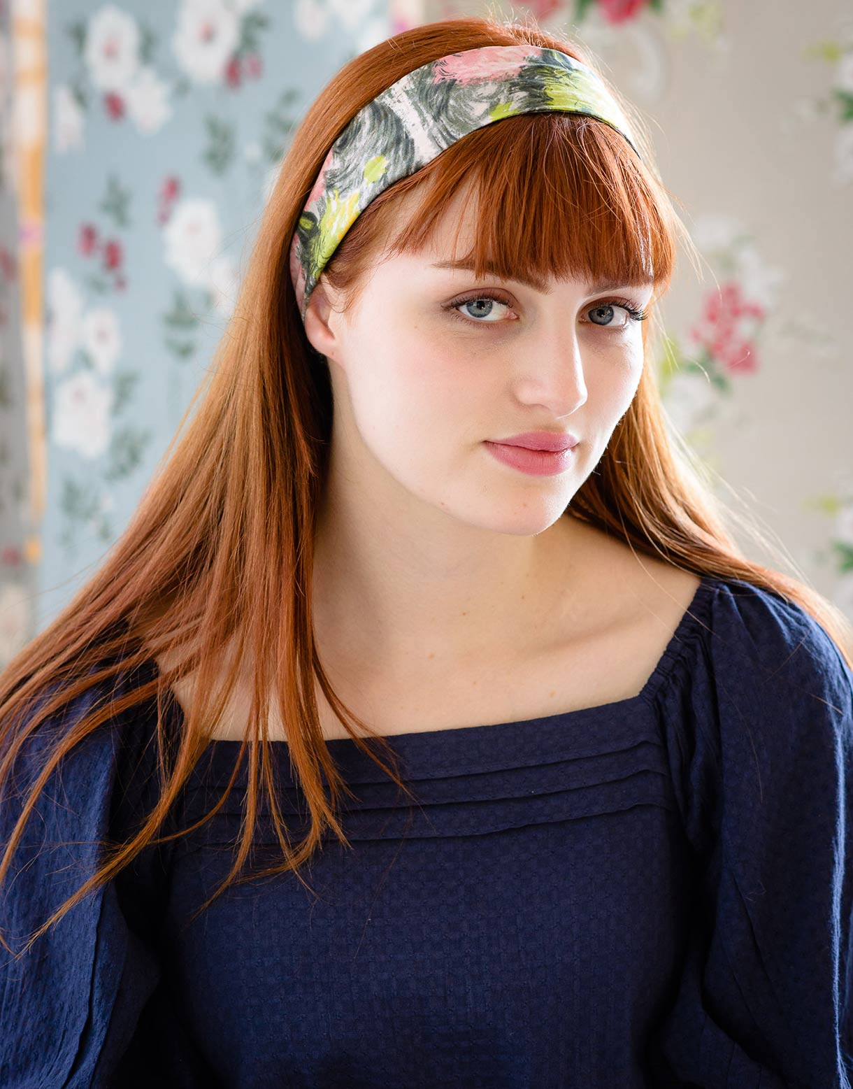 Headband Bow in Rosalie