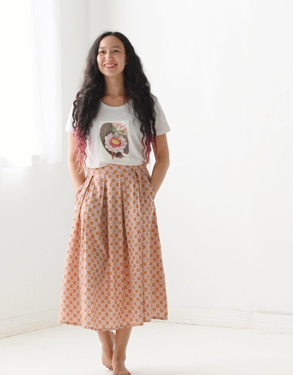 Jenna skirt in Square Dancer *organic cotton