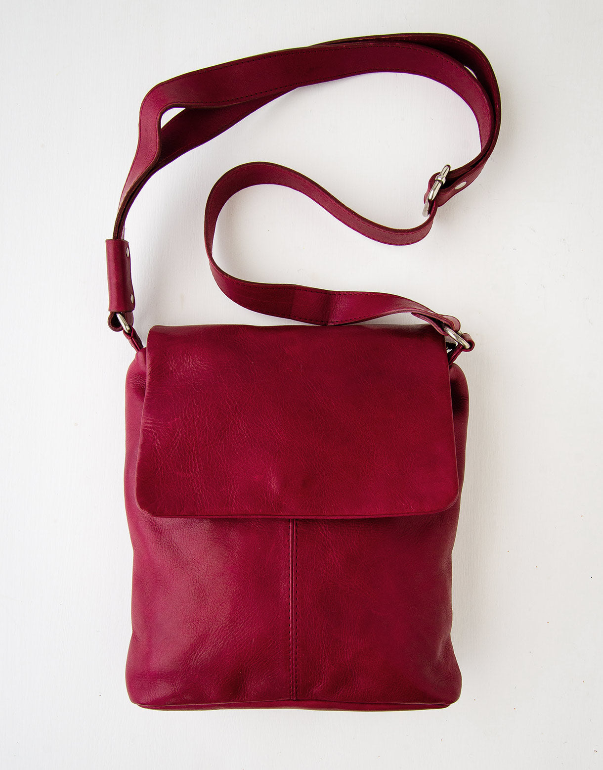 Kit Leather Bag in Red